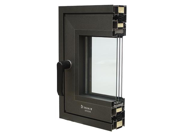 XP85黑晶石框扇一平系列系统窗