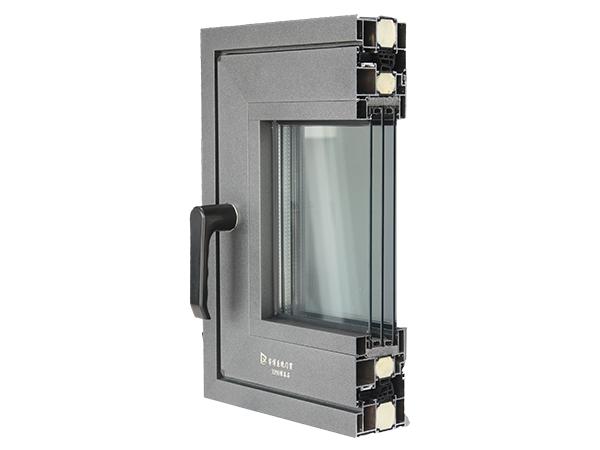 XP80黑晶石框扇一平系列系统窗